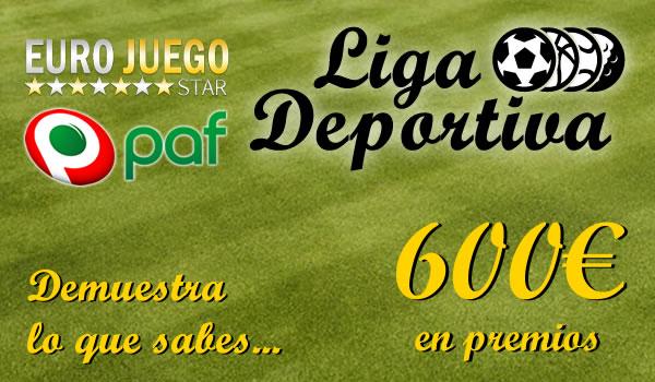 ligadeportiva2 LIGA DEPORTIVA. Todos los meses repartimos 600€. Apuesta con dinero virtual para ganar