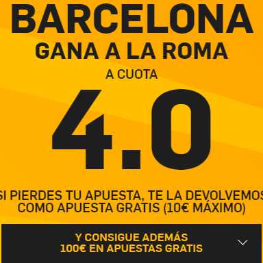 PromoCuotaBetfairBarcelonaRoma