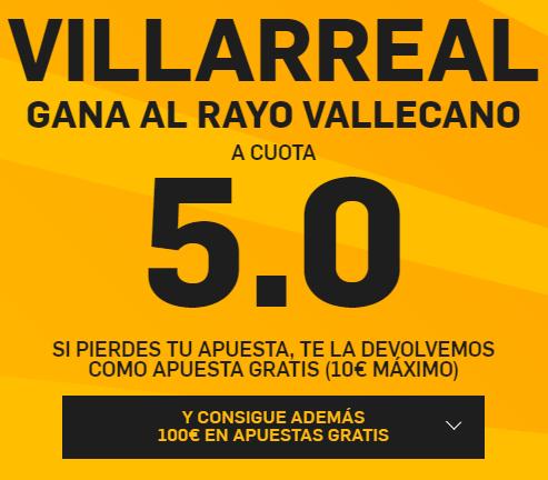 PromoCuotaBetfairVillarealRayo