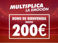 Sportium - Bono bienvenida de 100€ + 10€ Paysafecard