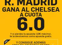 SúperCuota – R. Madrid gana al Chelsea a 6.0 (http://goo.gl/cwGQvt <- enlace)