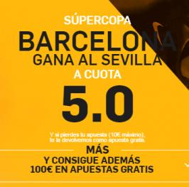 SúperCuota – Barcelona gana al Sevilla a 5.0 (http://goo.gl/ueNeyp <- enlace)