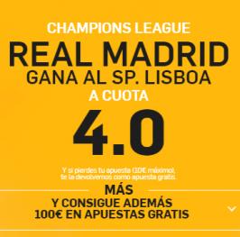 SúperCuota – R. Madrid gana Sp. Lisboa a 4.0 ( http://goo.gl/vgYHjj )