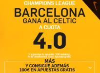 SúperCuota – Barça gana al Celtic a 4.0 ( http://goo.gl/Q8RUv6 <- enlace) #UCL