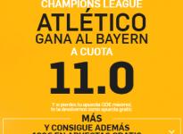 Atlético gana al Bayern a 11.0 ( https://goo.gl/QsJoZX )