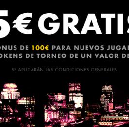 5€ sin necesidad de depósito con Bet365 póquer