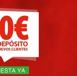 10€ sin necesidad de depósito si te registras con nuestro enlace
