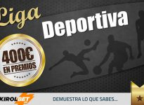 KirolBet nuevo patrocinador de Liga Deportiva. Gana ahora 100 puntos y llévate 20€ por registrarte