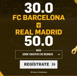 ¿Quién ganará el clásico? CUOTA 30 -> BARÇA o CUOTA 50 -> R. MADRID Solo aquí: